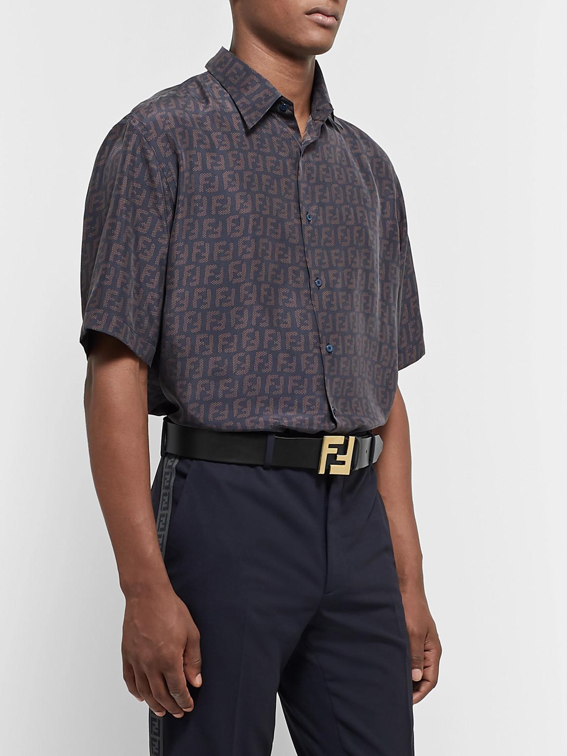 Fendi Belts 3.5CM BLACK LEATHER BELT