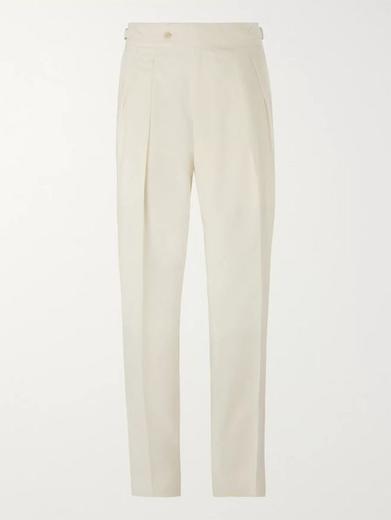 Richard James Pleated Wool-Blend Trousers