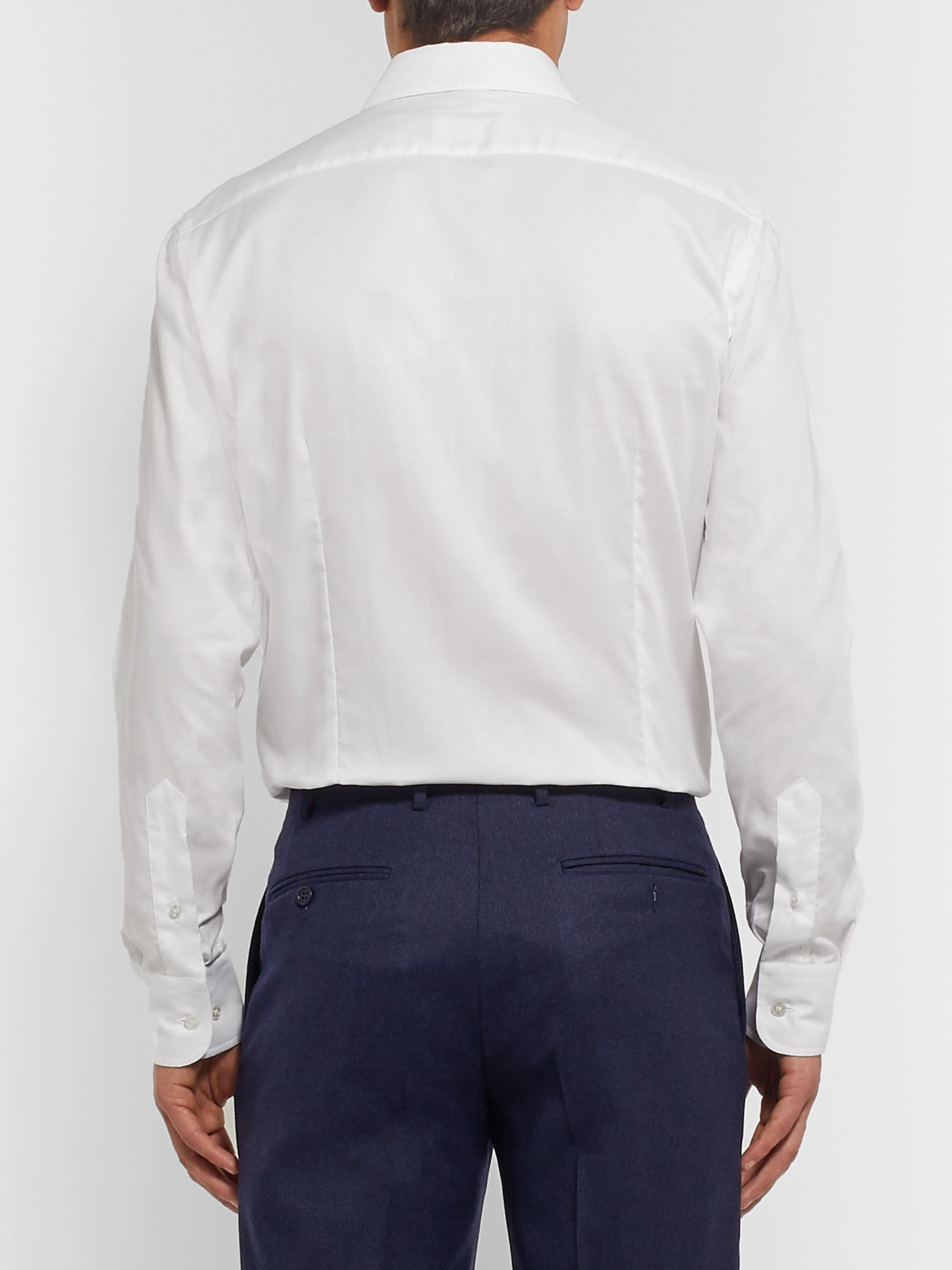 Etro White Slim-Fit Cotton Oxford Shirt