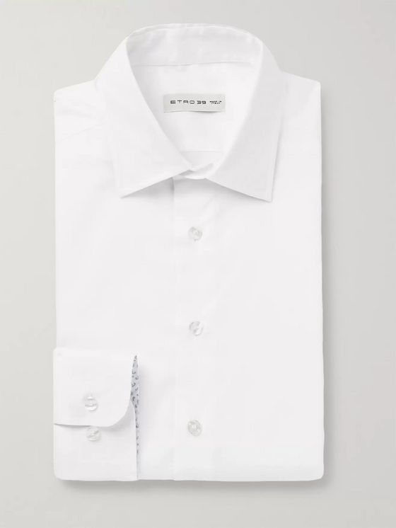 Etro Light-Blue Slim-Fit Cotton Oxford Shirt
