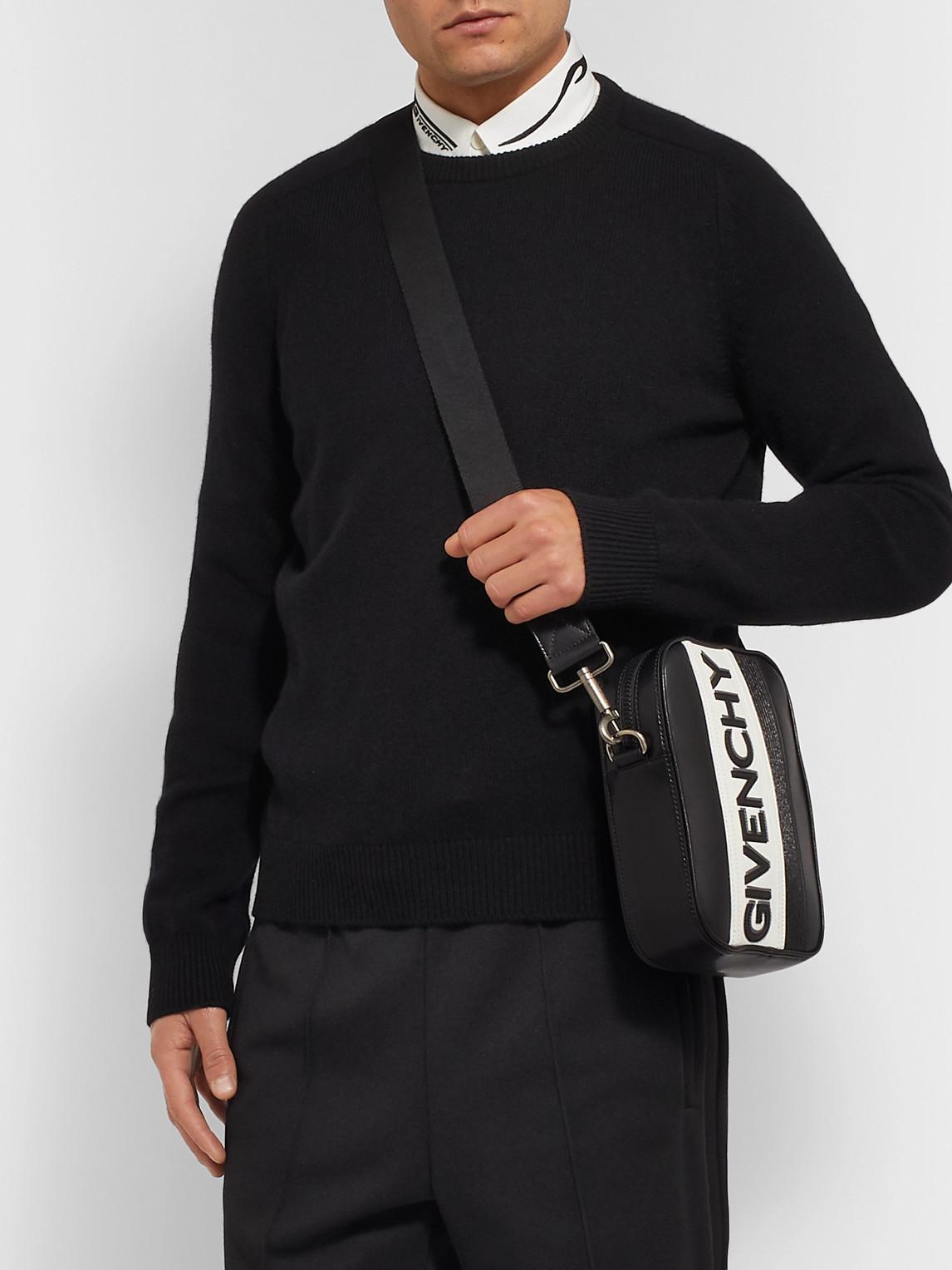 Givenchy Bags LOGO-APPLIQUÉD LEATHER MESSENGER BAG