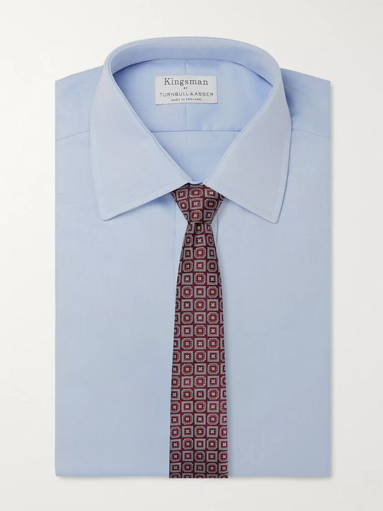 Kingsman + Turnbull & Asser Rocketman Silk-Jacquard Tie