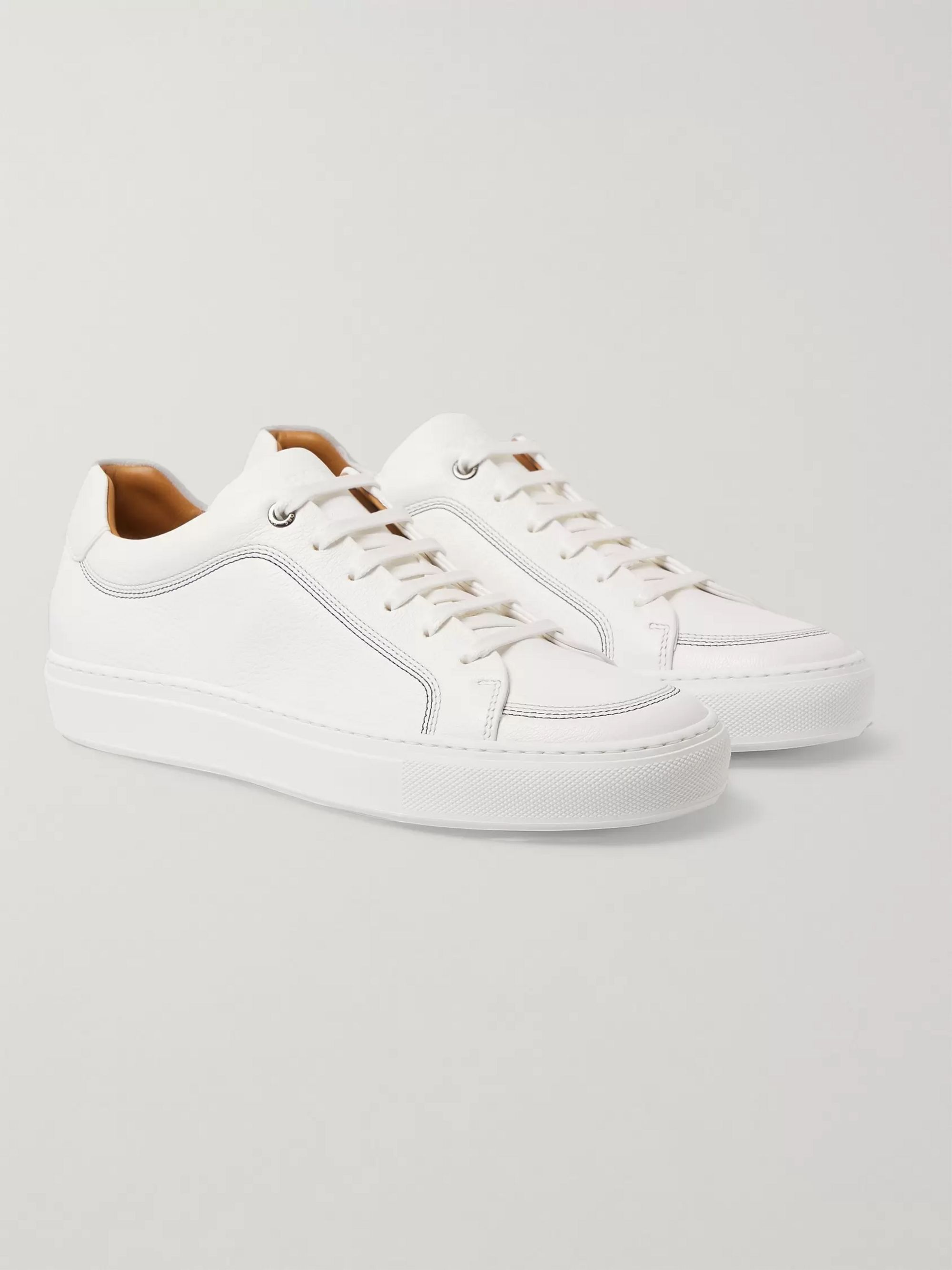 Hugo Boss Mirage Textured-Leather Sneakers