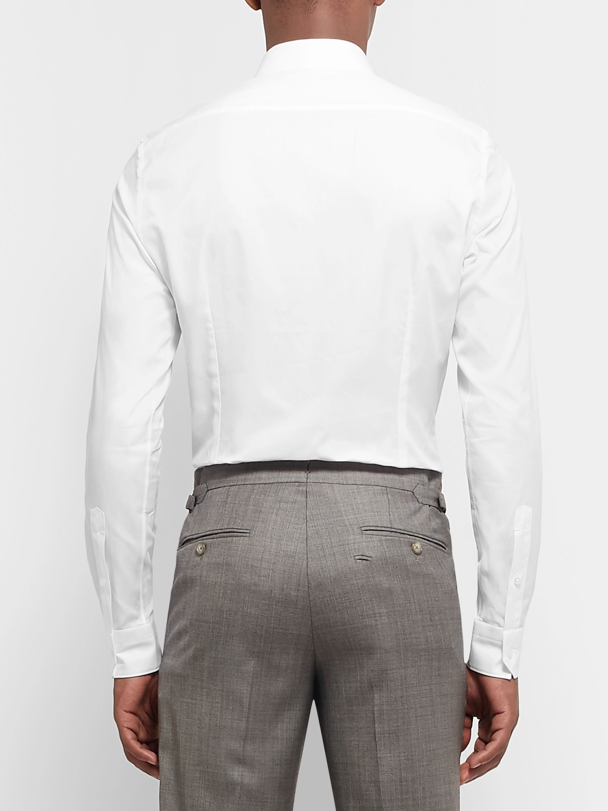 Ermenegildo Zegna White Slim-Fit Trofeo Cotton-Twill Shirt
