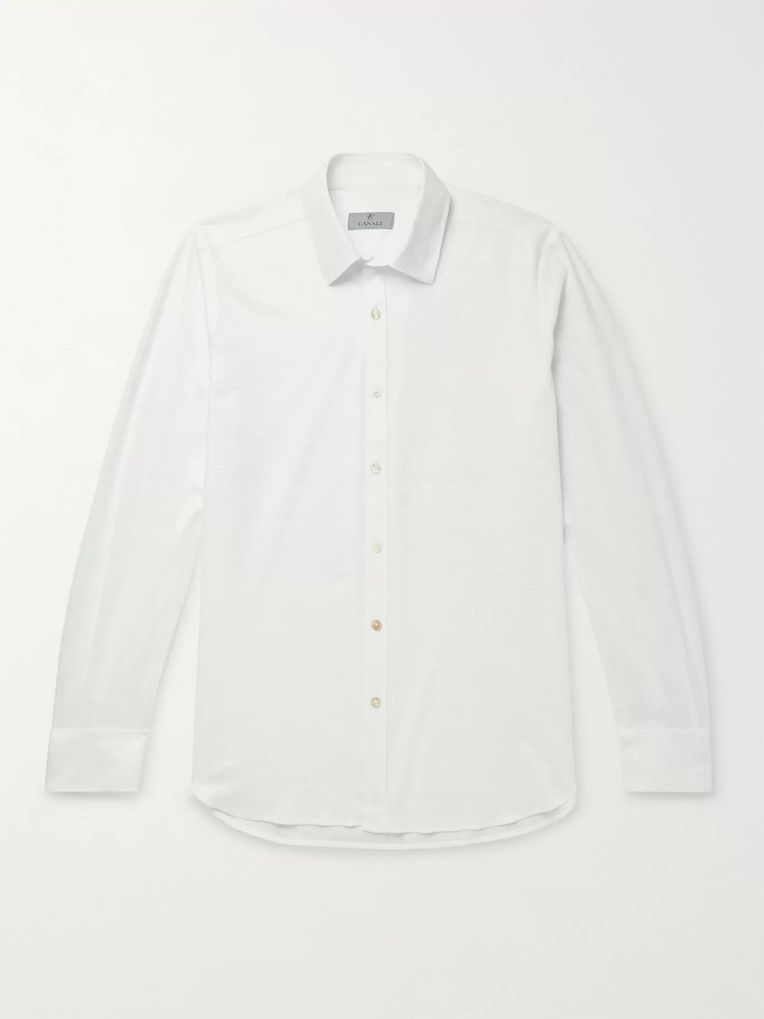 Canali Slim-Fit Cotton-Piqué Shirt