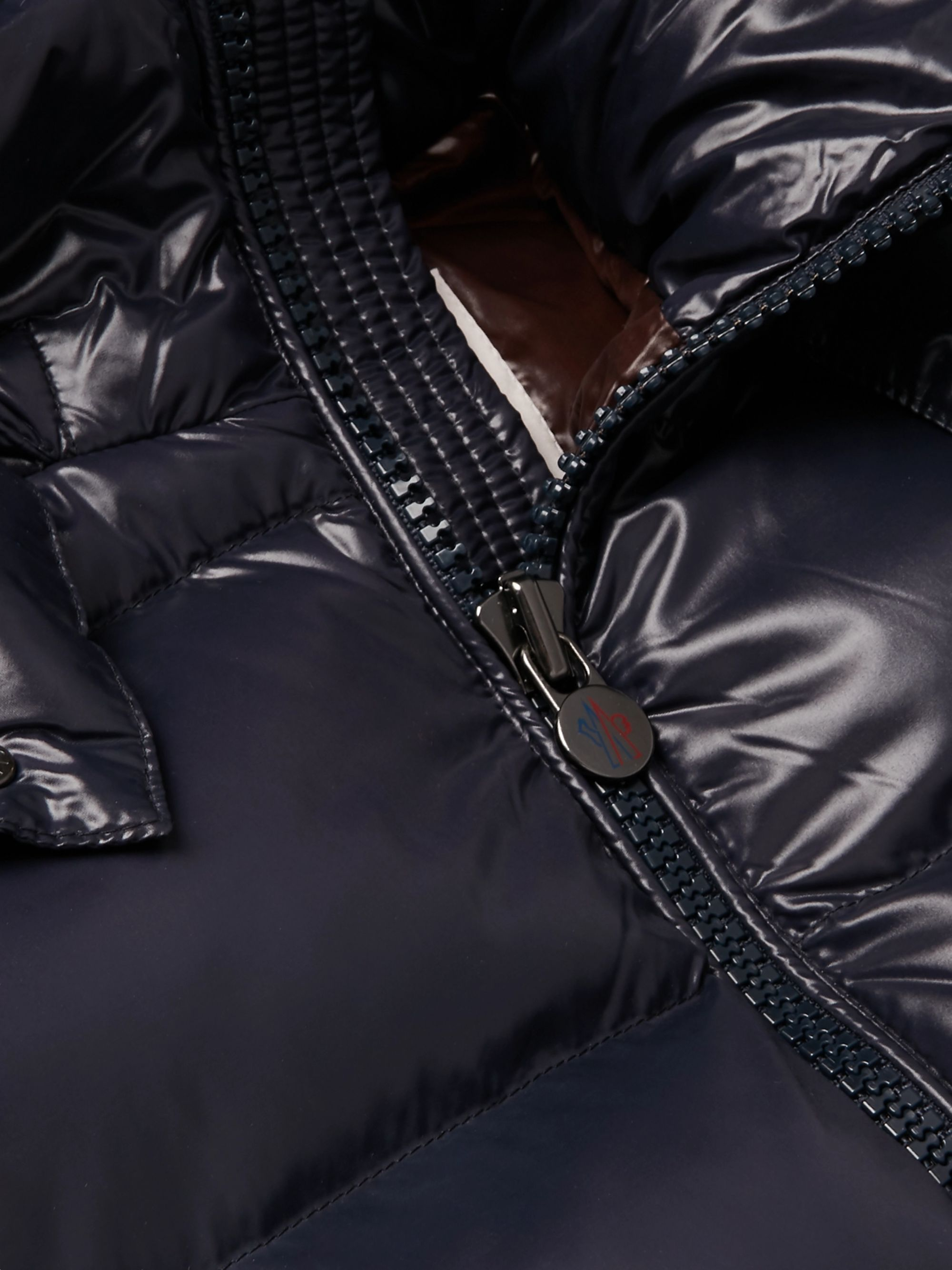 Moncler Maya Quilted Glossed-Shell Hooded Down Jacket