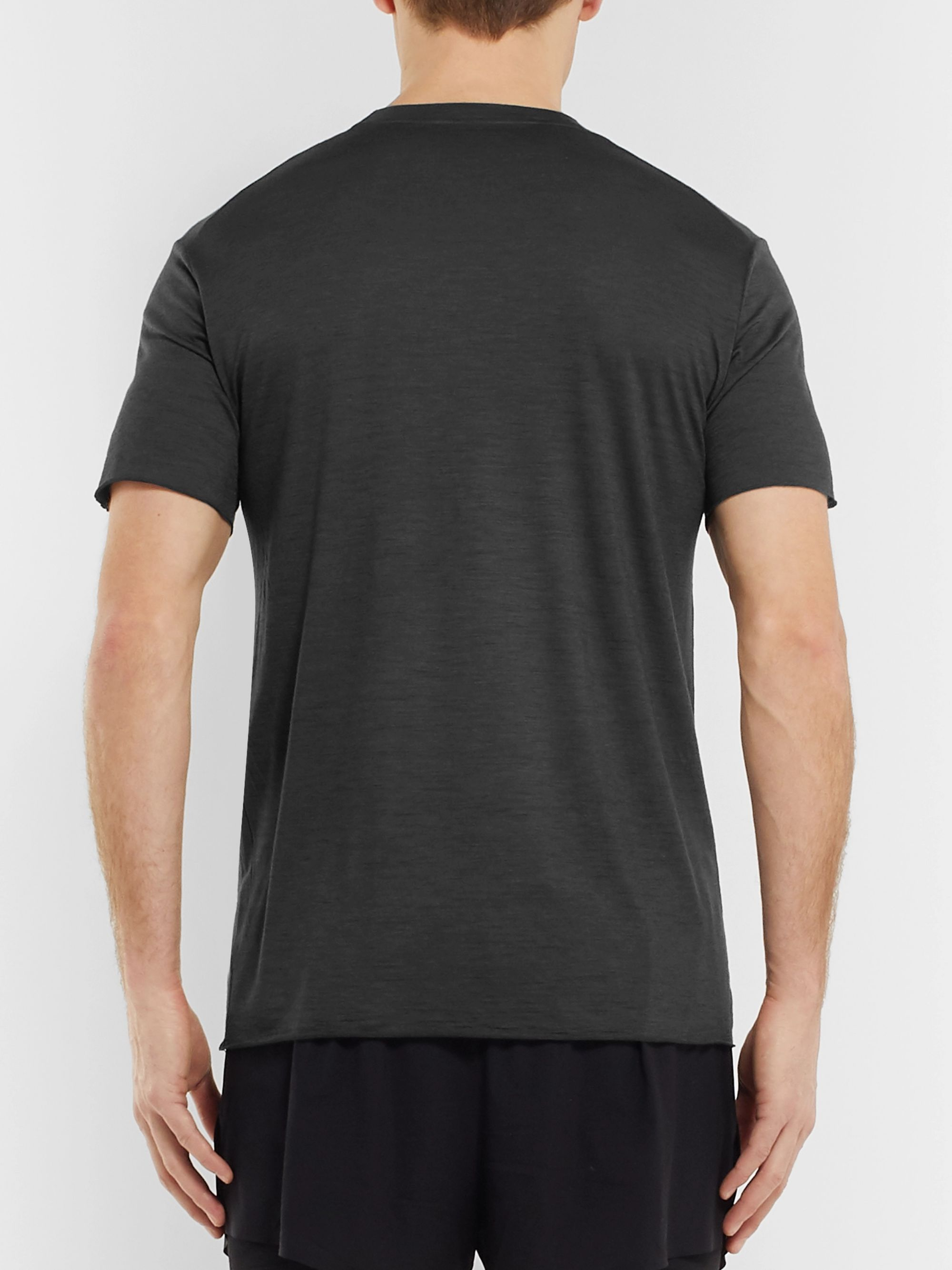 Satisfy Cloud Mélange Merino Wool Running T-Shirt