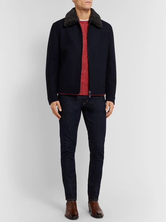 Isaia Mélange Cashmere Sweater