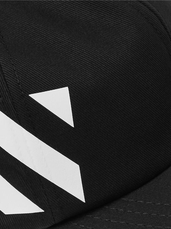 Off-White Striped Cotton-Twill Baseball Cap