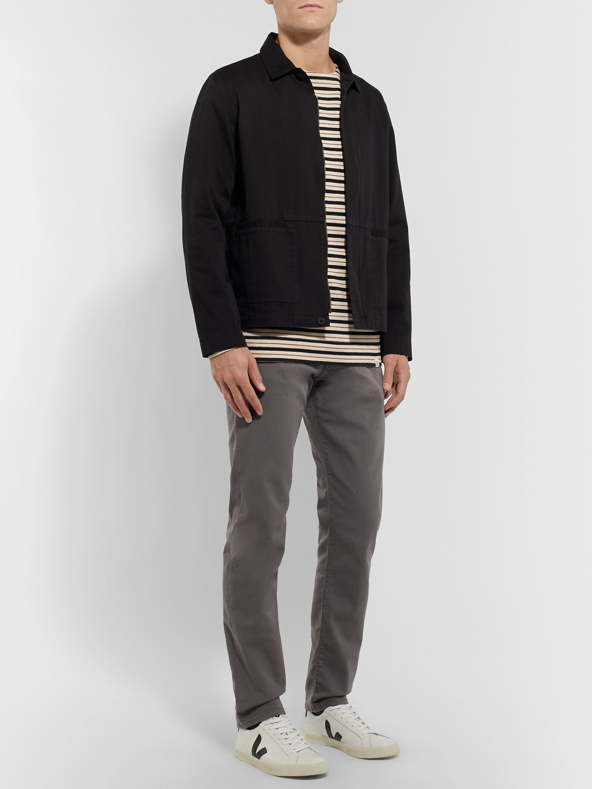PS Paul Smith Slim-Fit Tapered Garment-Dyed Denim Jeans