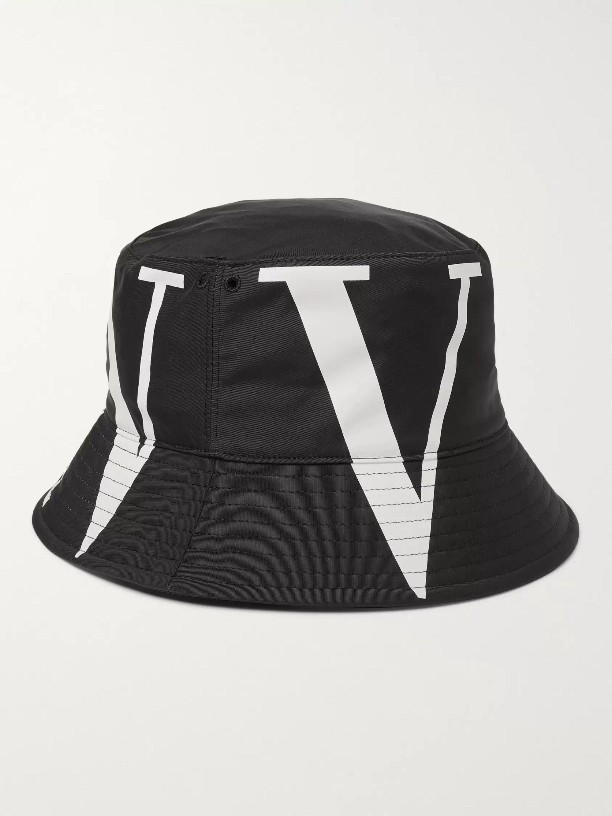 bedst 100% top kvalitet flere billeder Valentino Garavani Logo-Print Canvas Bucket Hat