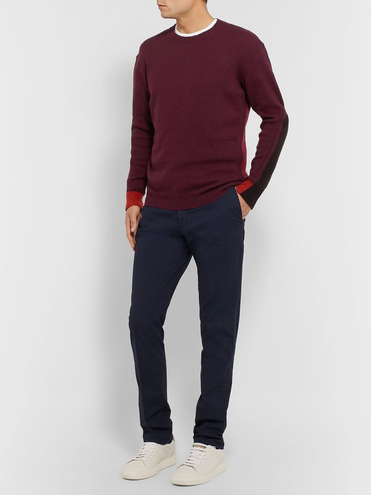 Etro Colour-Block Wool and Cashmere-Blend Sweater