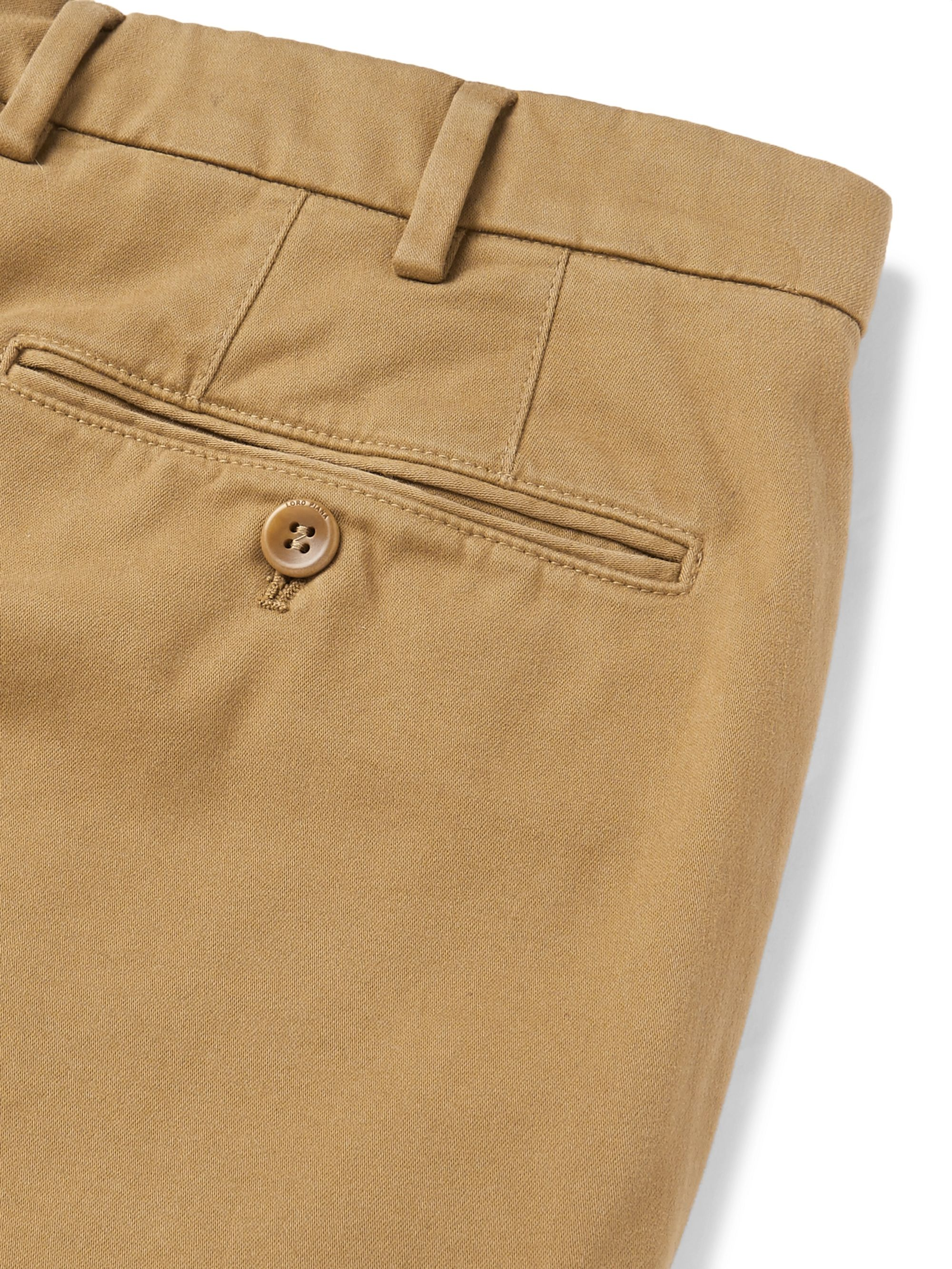 Loro Piana Cotton-Blend Twill Chinos