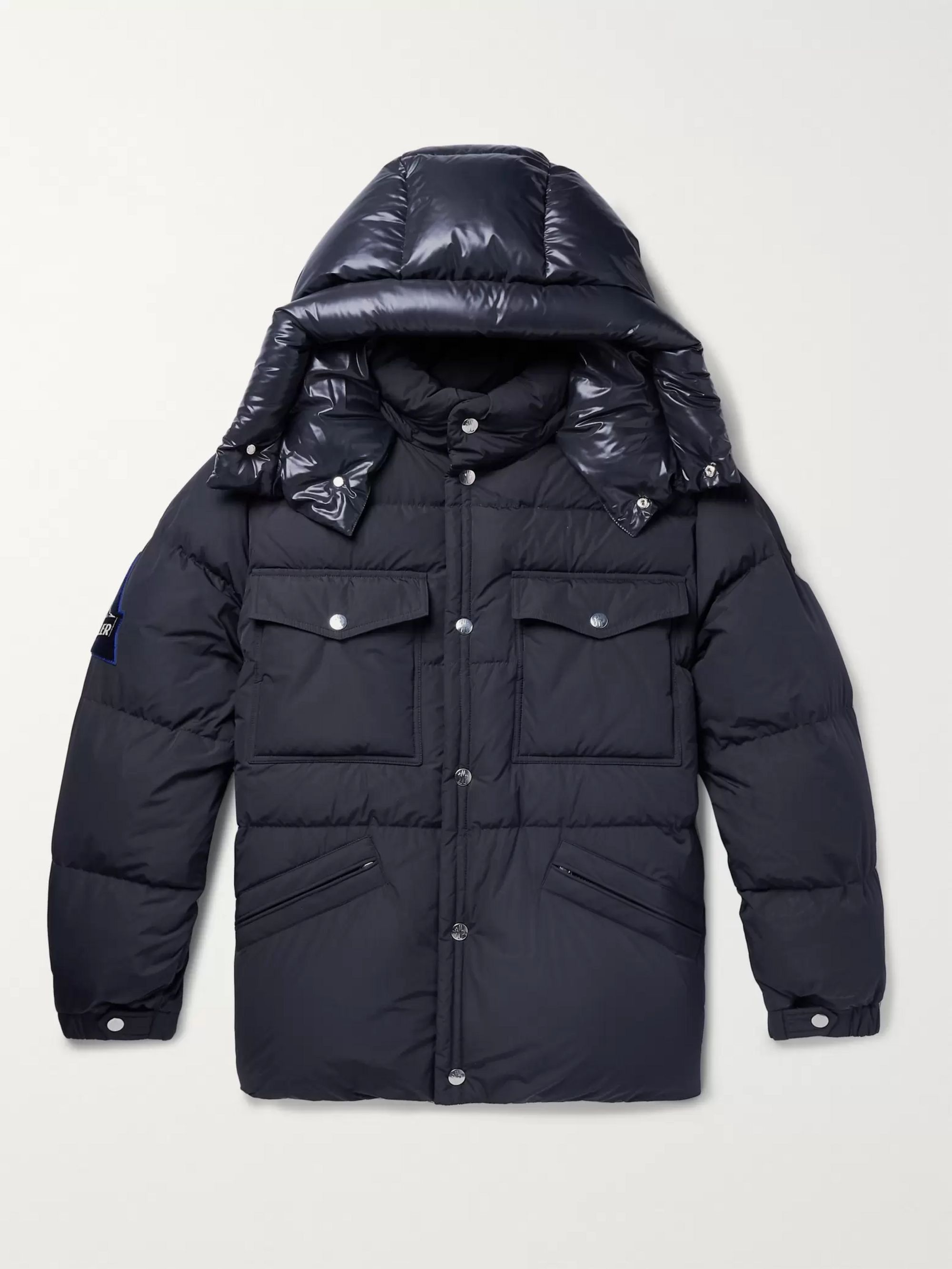 Vilbert Slim Fit Quilted Shell Hooded Down Jacket by Moncler