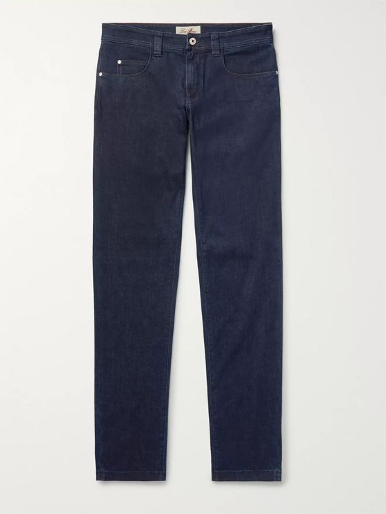 Loro Piana Slim-Fit Cotton and Cashmere-Blend Denim Jeans