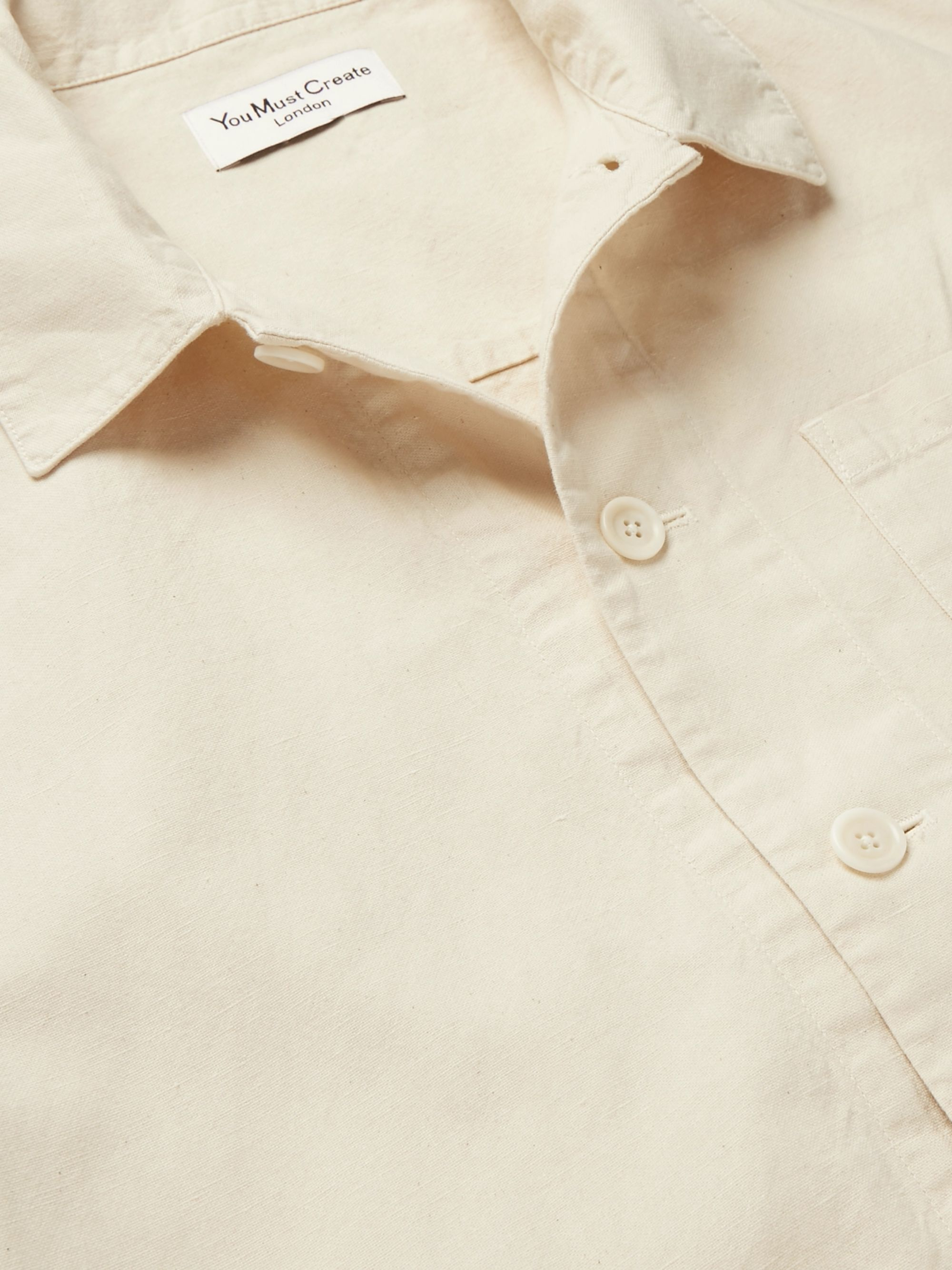 YMC Linen and Cotton-Blend Canvas Shirt Jacket