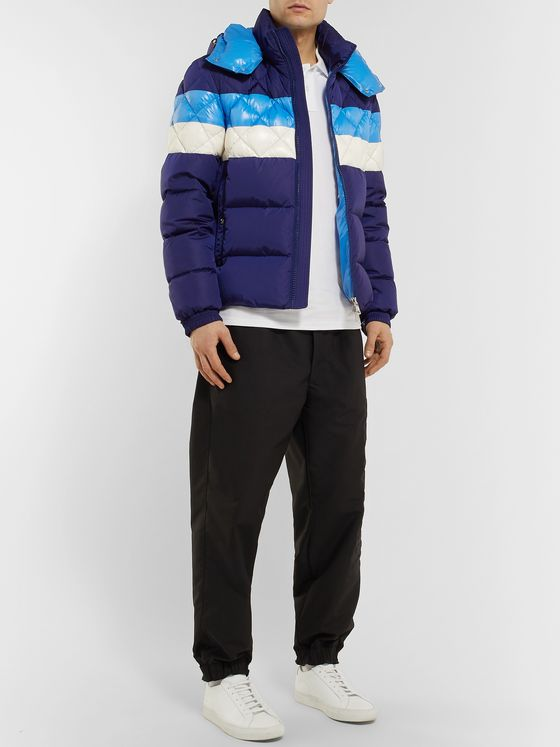Moncler Janvry Slim-Fit Colour-Block Quilted Shell Hooded Down Jacket