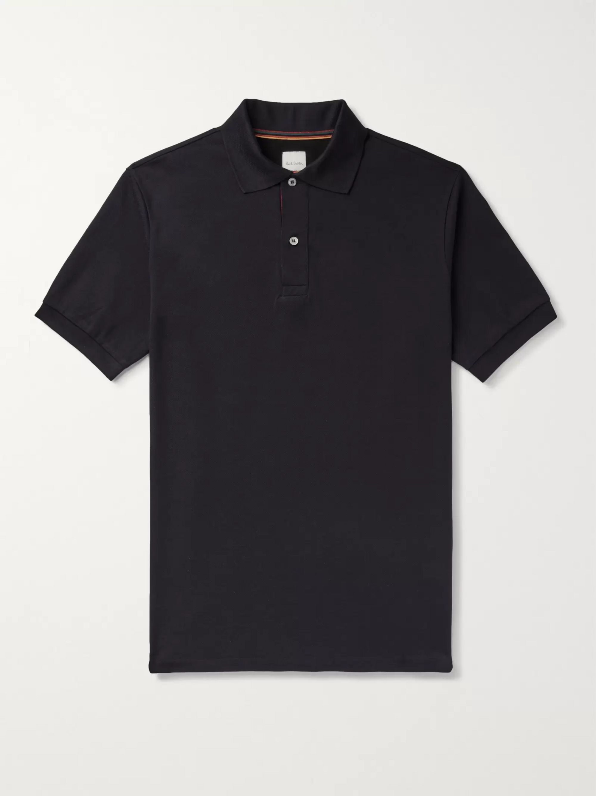 Paul Smith Webbing-Trimmed Cotton-Piqué Polo Shirt