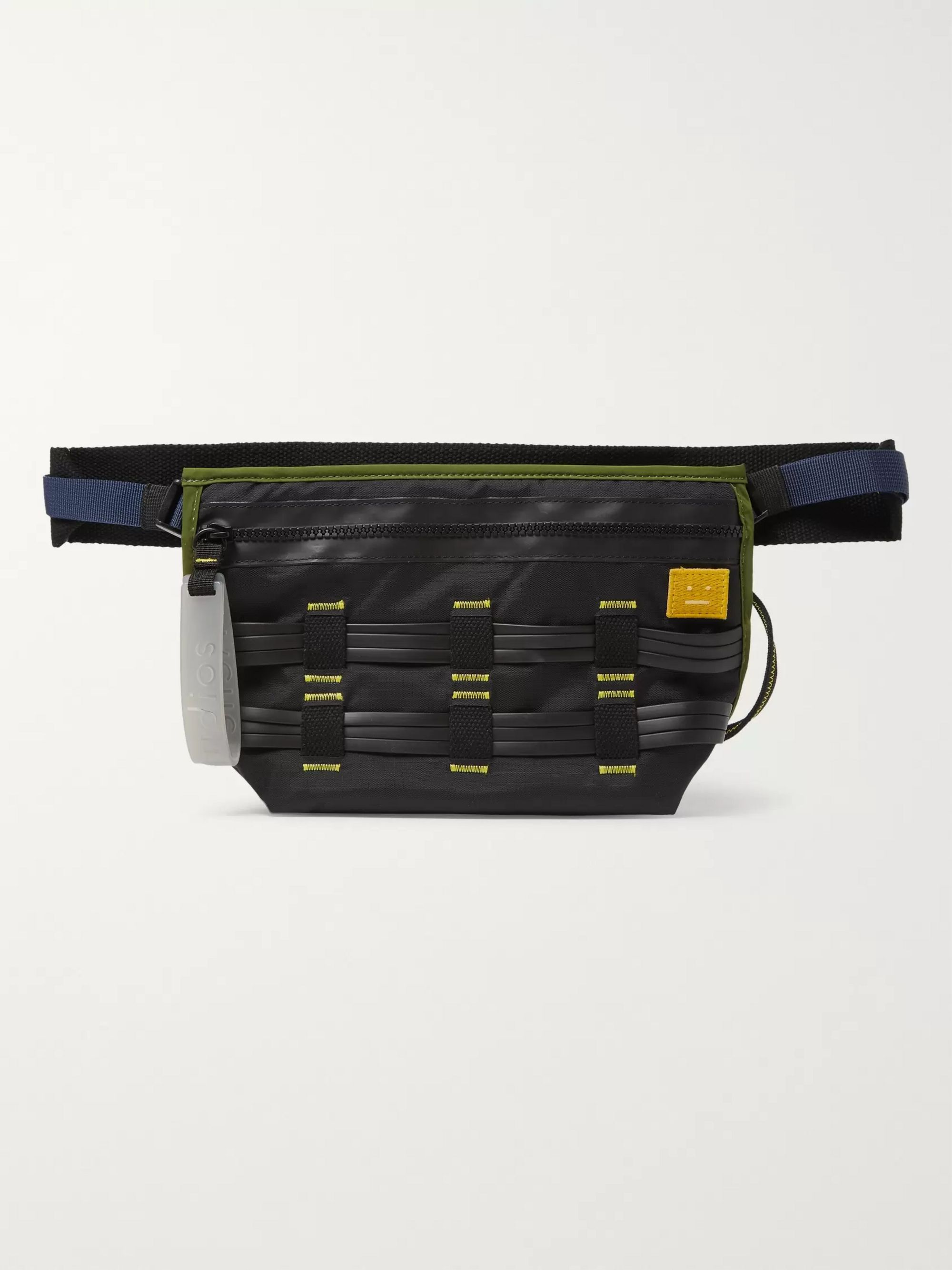 Acne Studios Rubber and Webbing-Trimmed Nylon-Ripstop Belt Bag