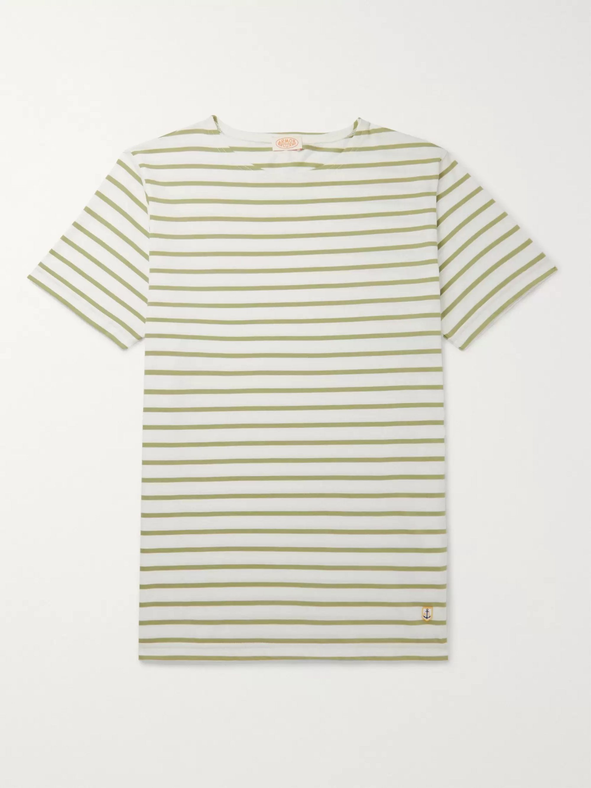 Armor Lux Slim-Fit Striped Cotton-Jersey T-Shirt