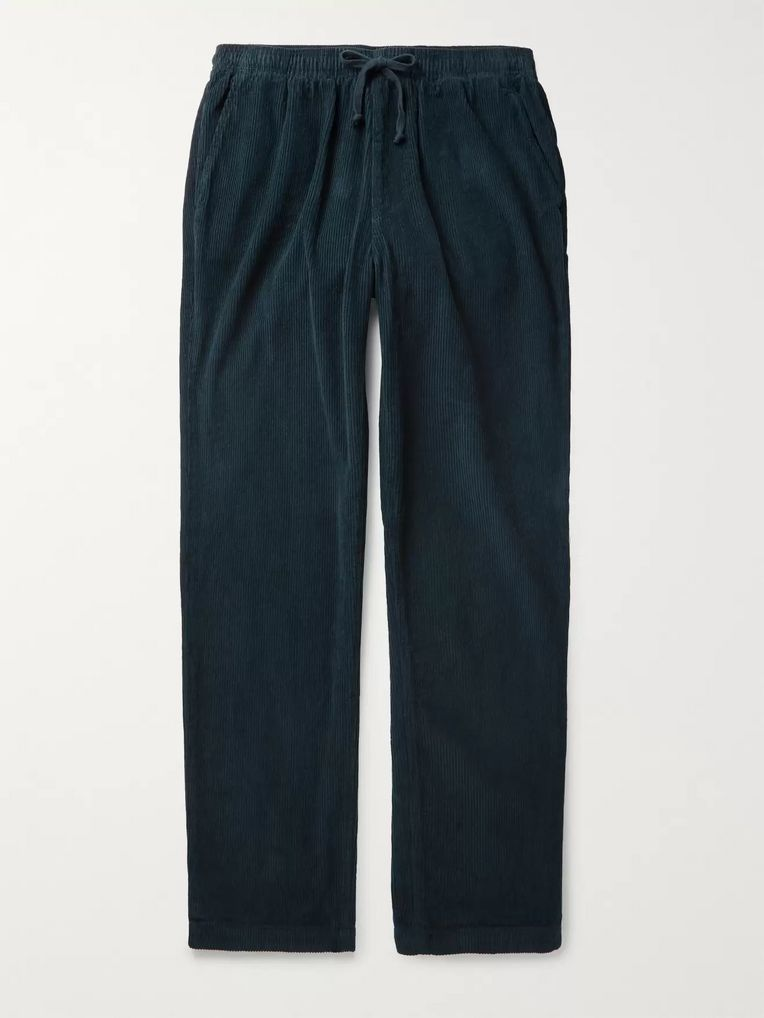 Save Khaki United Navy Tapered Cotton-Corduroy Drawstring Trousers