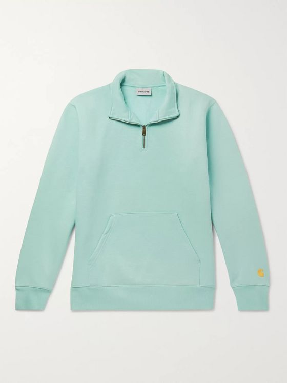 Carhartt WIP Chase Fleece-Back Cotton-Blend Jersey Half-Zip Sweatshirt