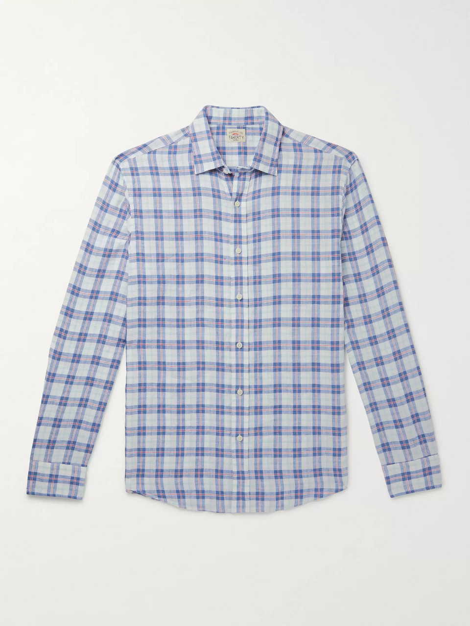 Faherty Checked Linen Shirt