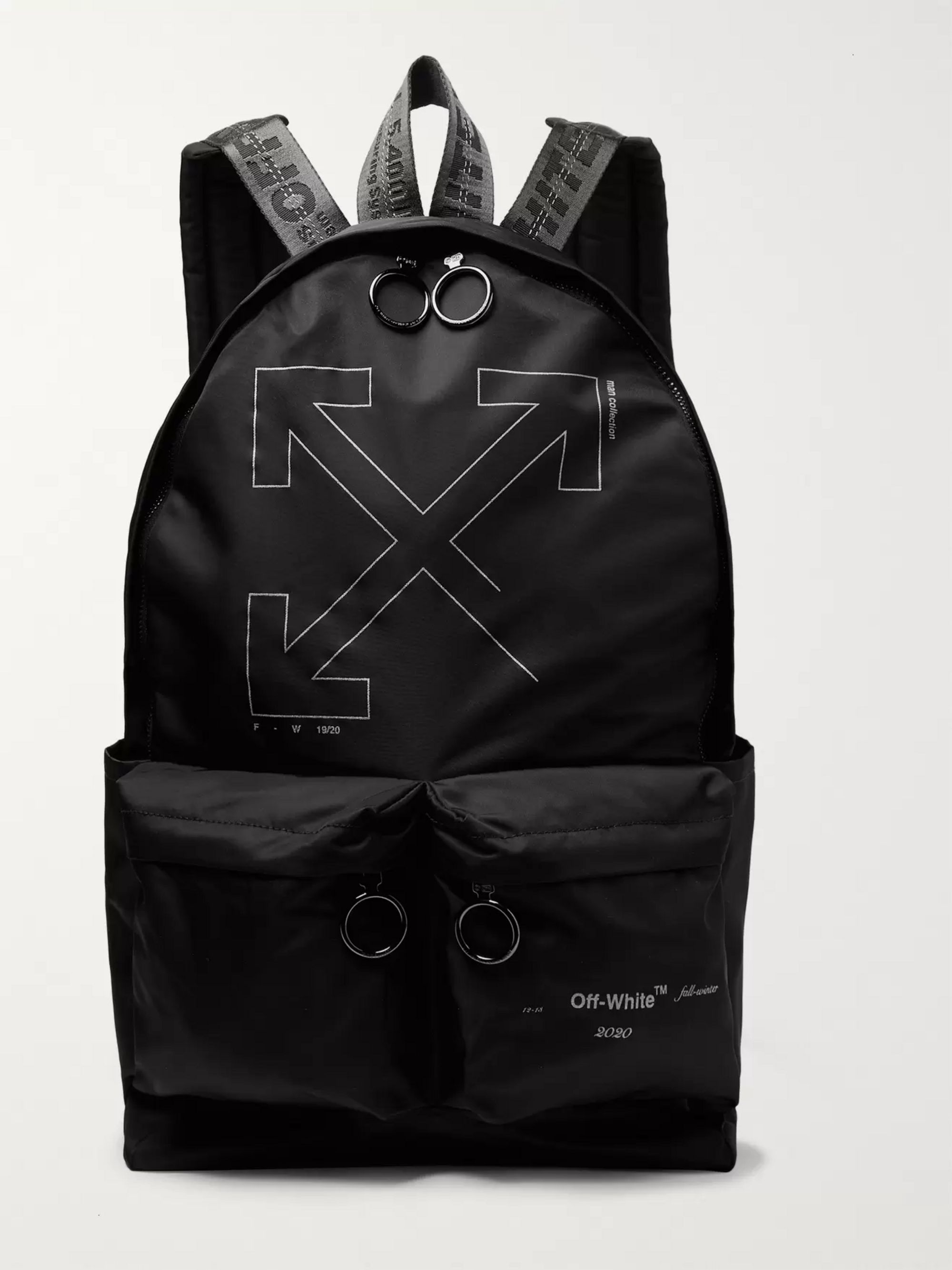Off-White Unfinished Logo-Print Shell Backpack