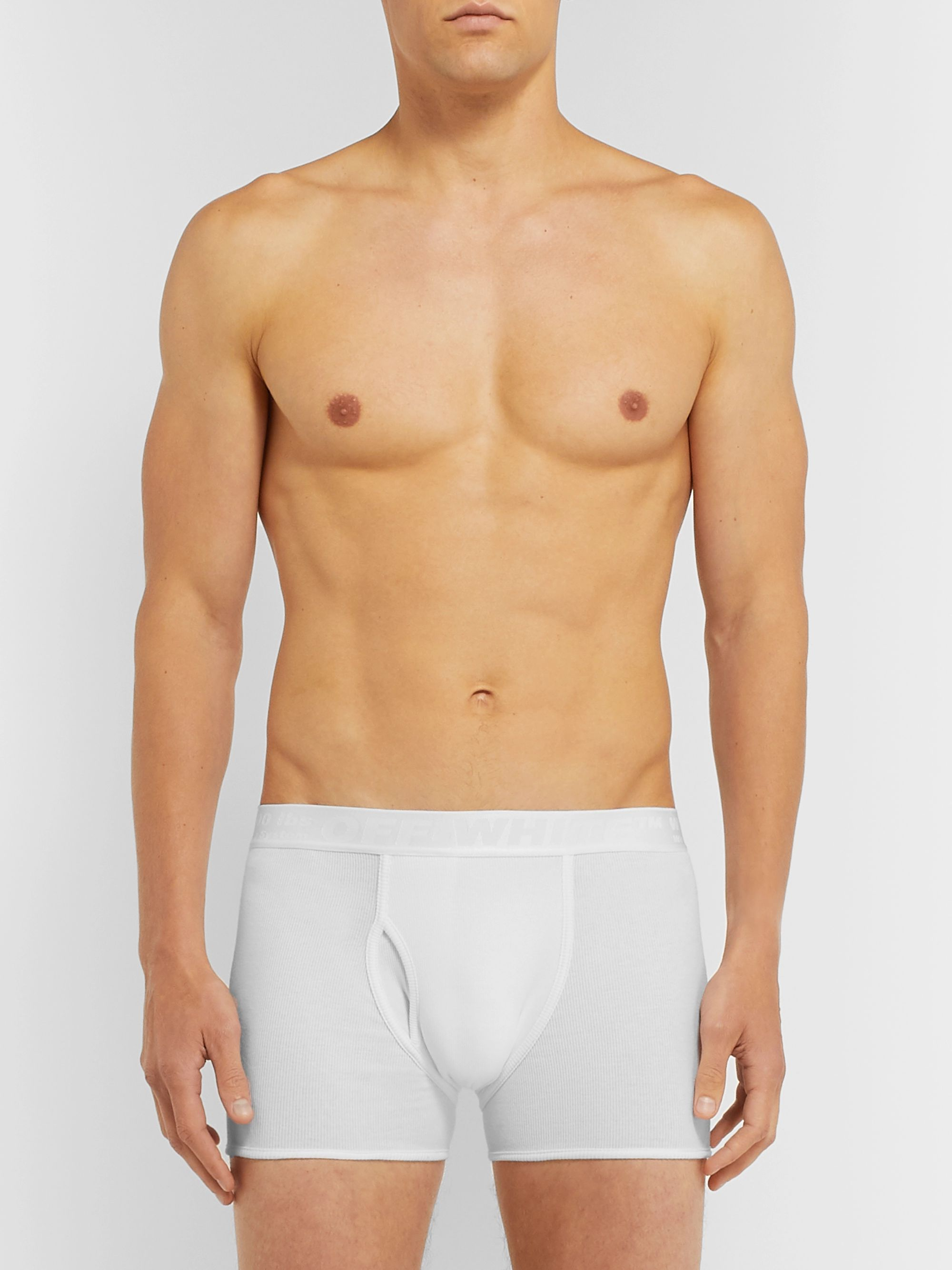 Off-White Three-Pack Stretch-Cotton Boxer Briefs