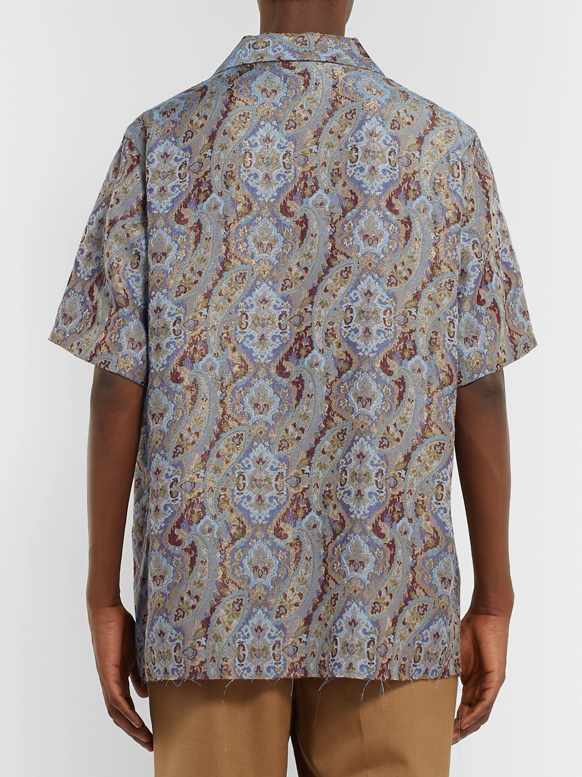 Needles Camp-Collar Paisley Jacquard Shirt