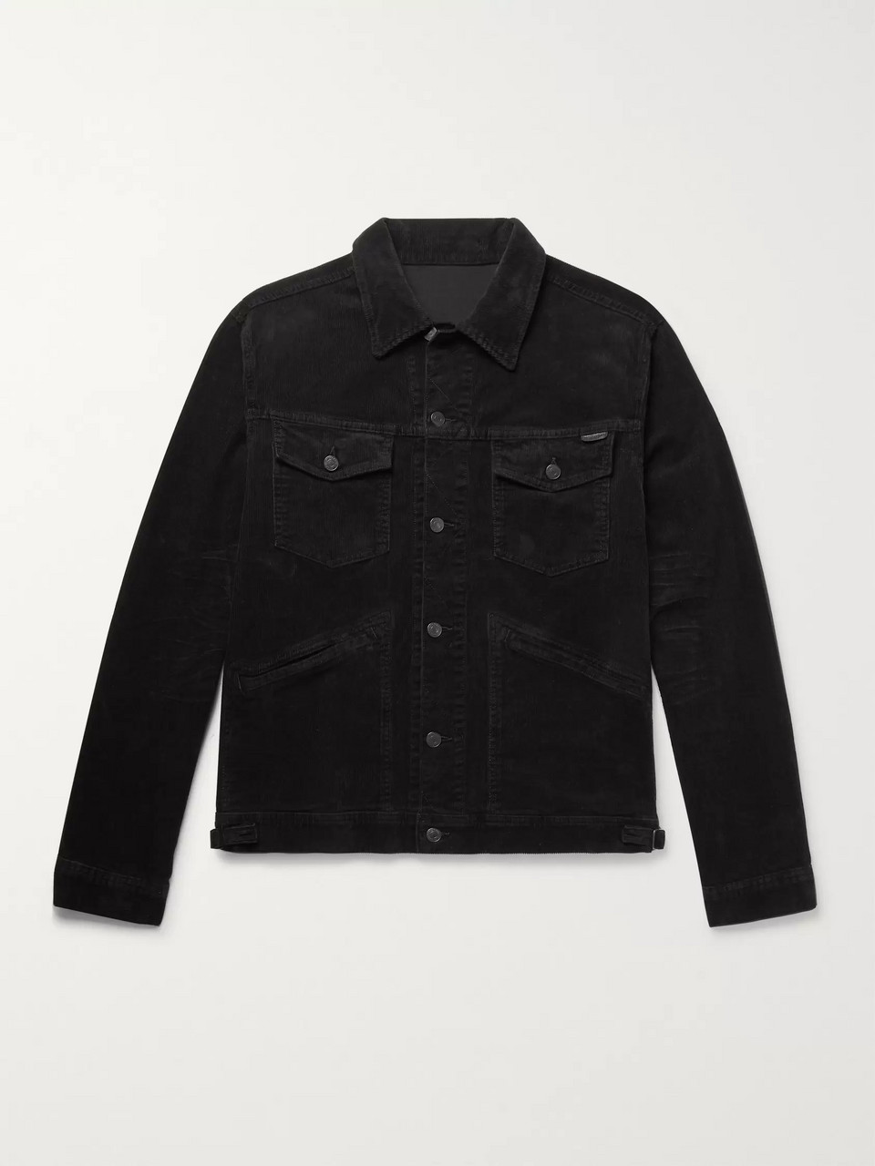 TOM FORD Washed Cotton-Blend Corduroy Trucker Jacket