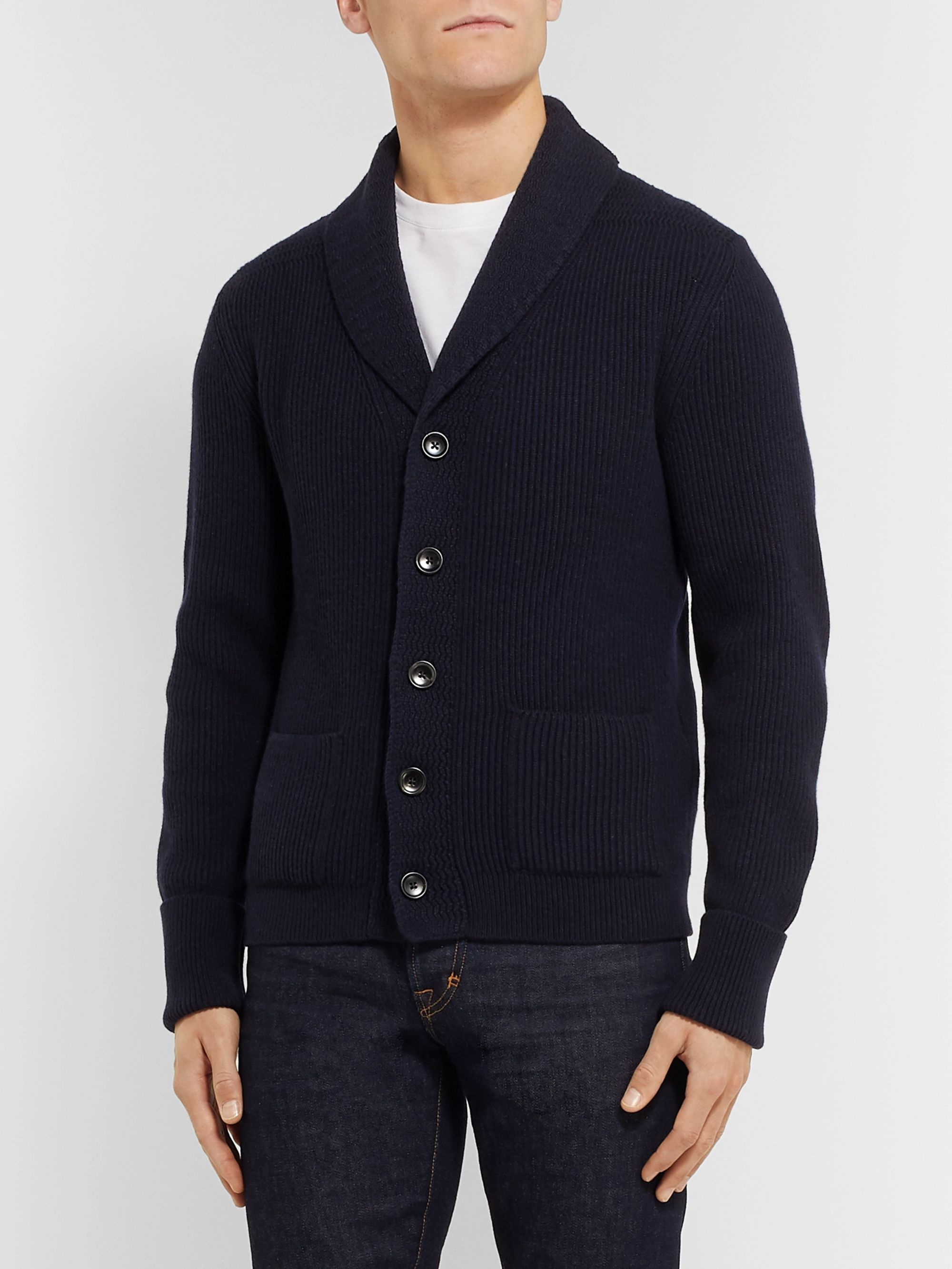 TOM FORD Shawl-Collar Cashmere Cardigan