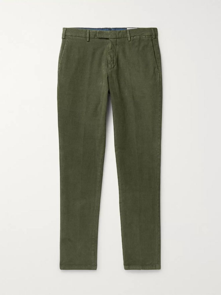 Boglioli Slim-Fit Cotton-Blend Corduroy Chinos
