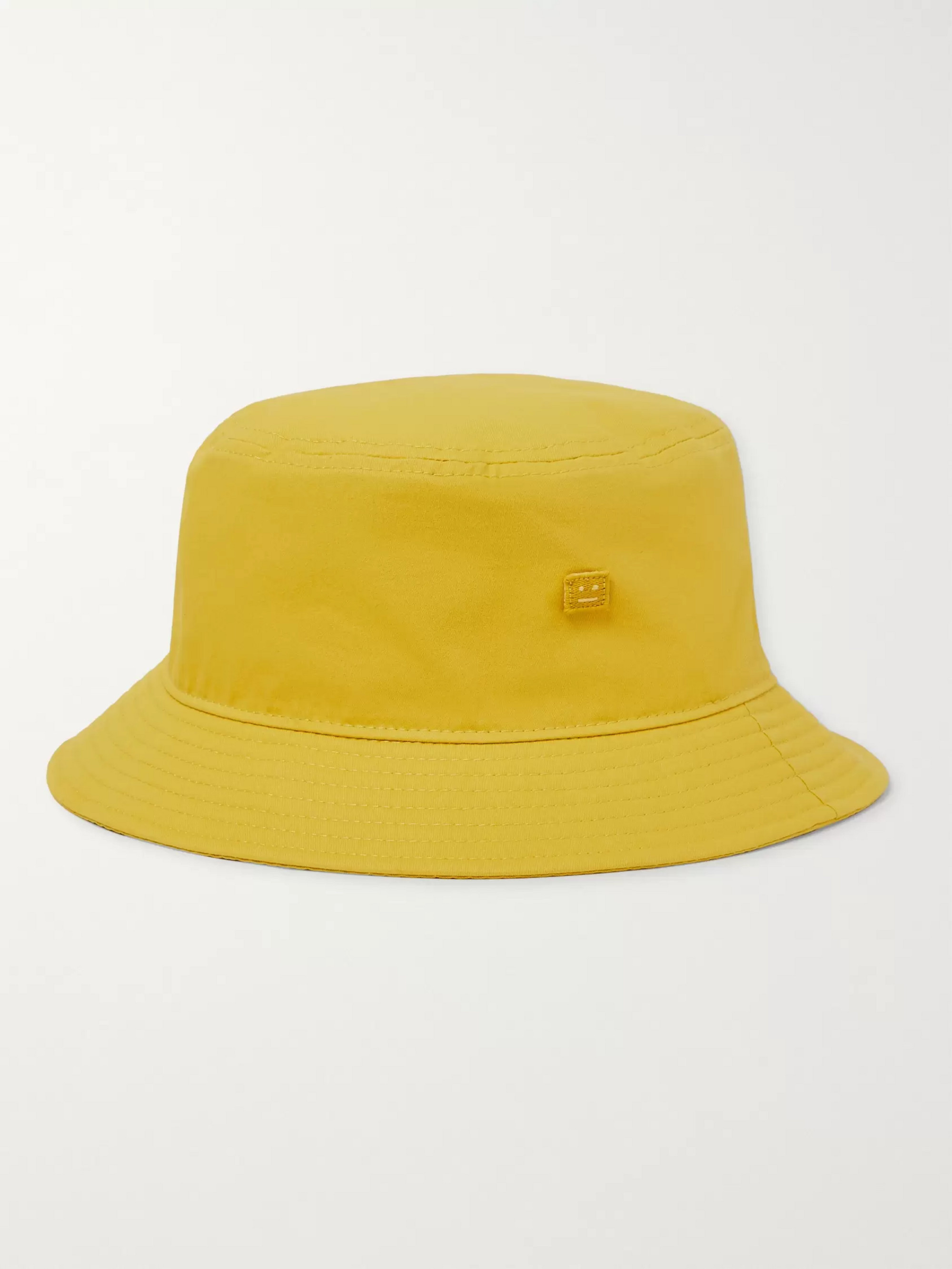 Acne Studios Logo-Appliquéd Cotton-Twill Bucket Hat