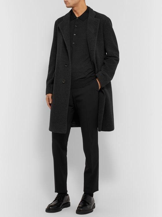 Giorgio Armani Melangé Virgin Wool and Cashmere-Blend Overcoat