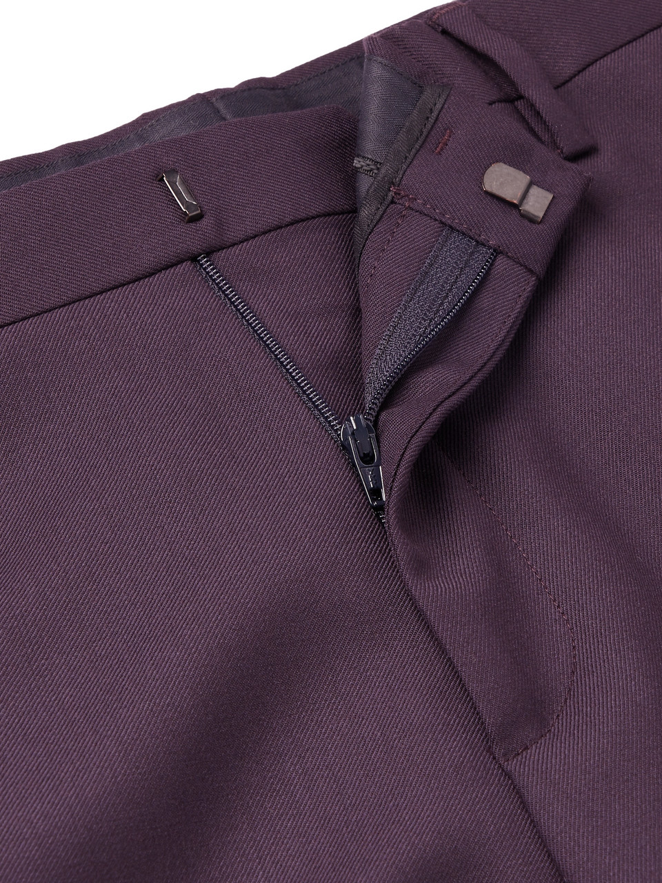 Paul Smith Aubergine Soho Slim-Fit Wool Suit Trousers