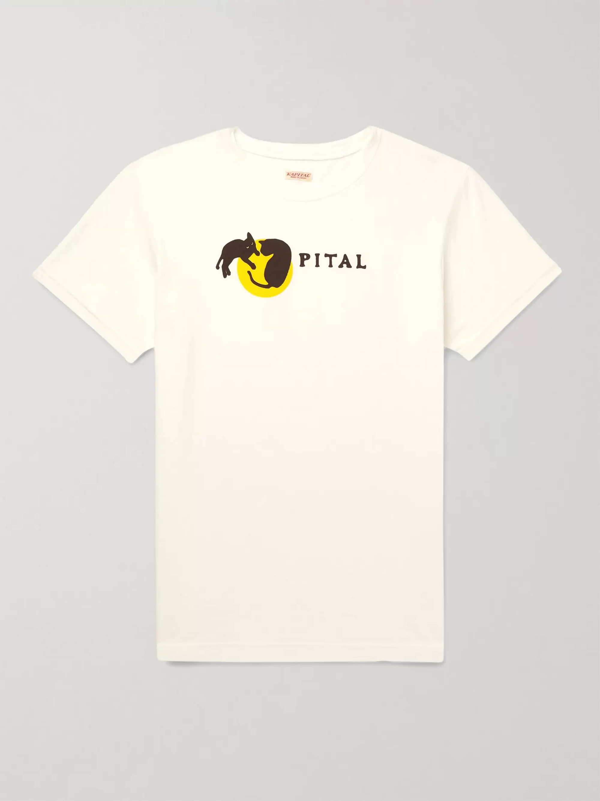 KAPITAL Logo-Print Cotton-Jersey T-Shirt
