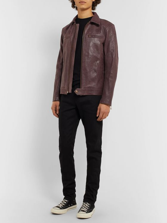 Blackmeans Distressed Leather Jacket
