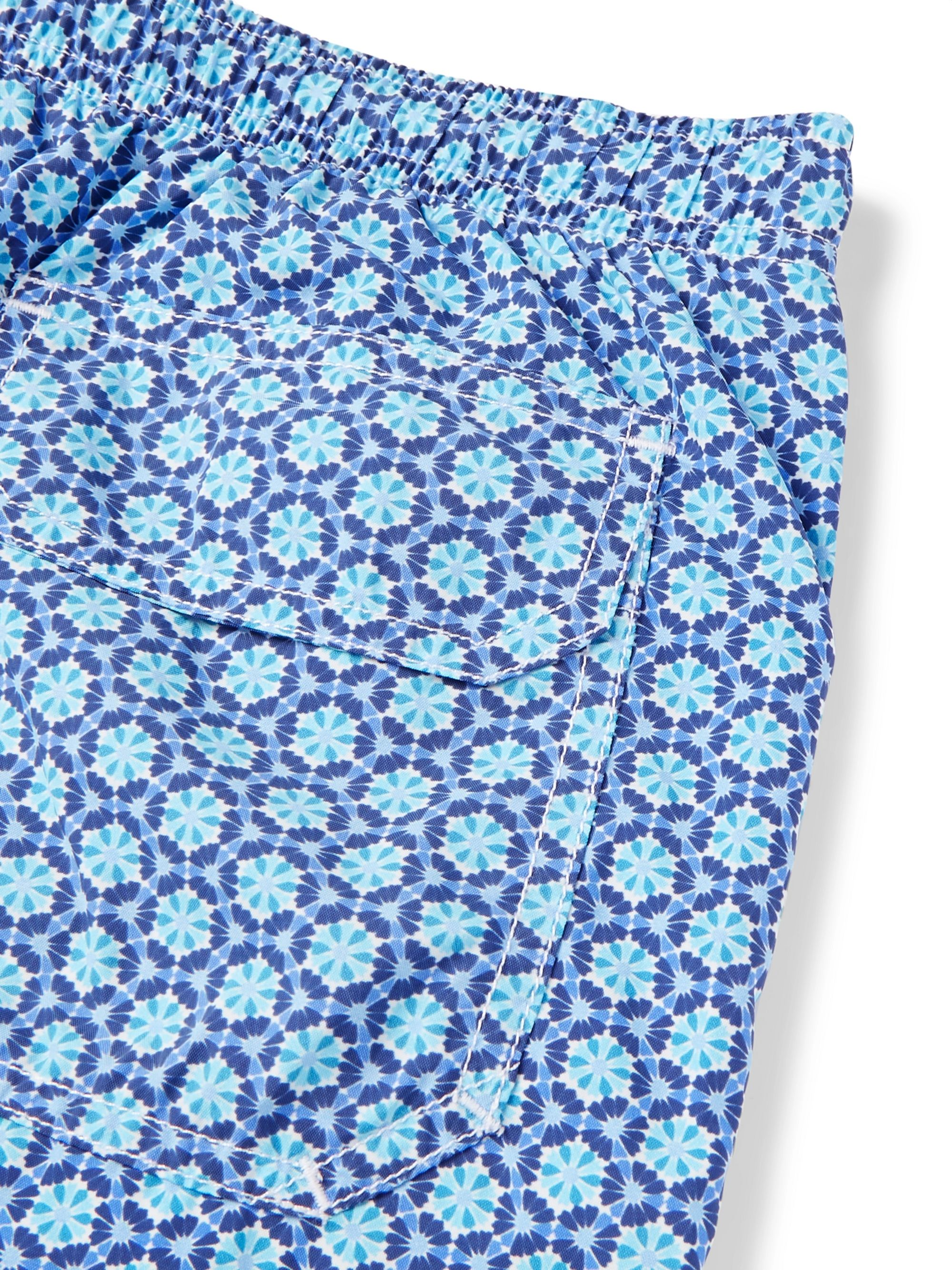 Anderson & Sheppard Slim-Fit Mid-Length Printed Swim Shorts