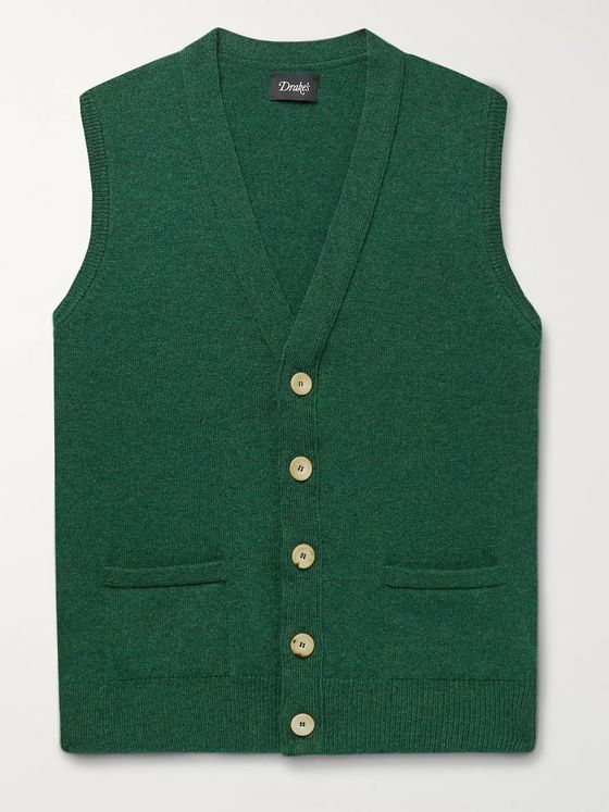 Drake's Wool Sweater Vest