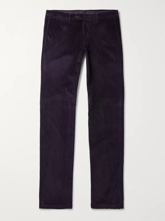 Canali Stretch Cotton-Blend Corduroy Chinos