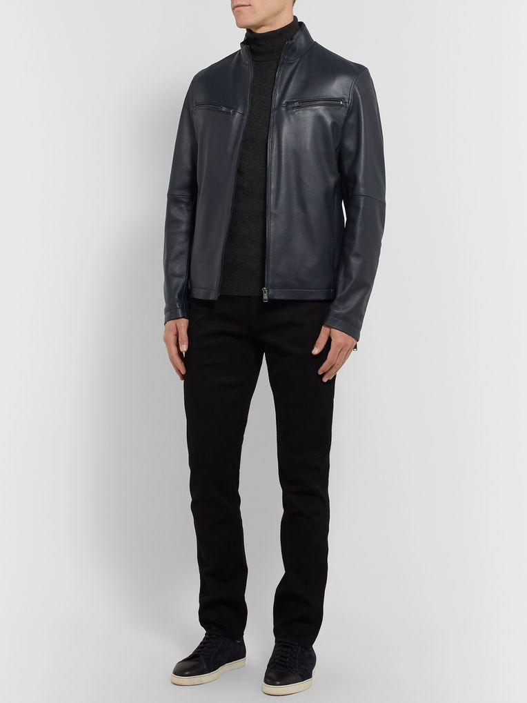 Hugo Boss Nocklin Leather Jacket