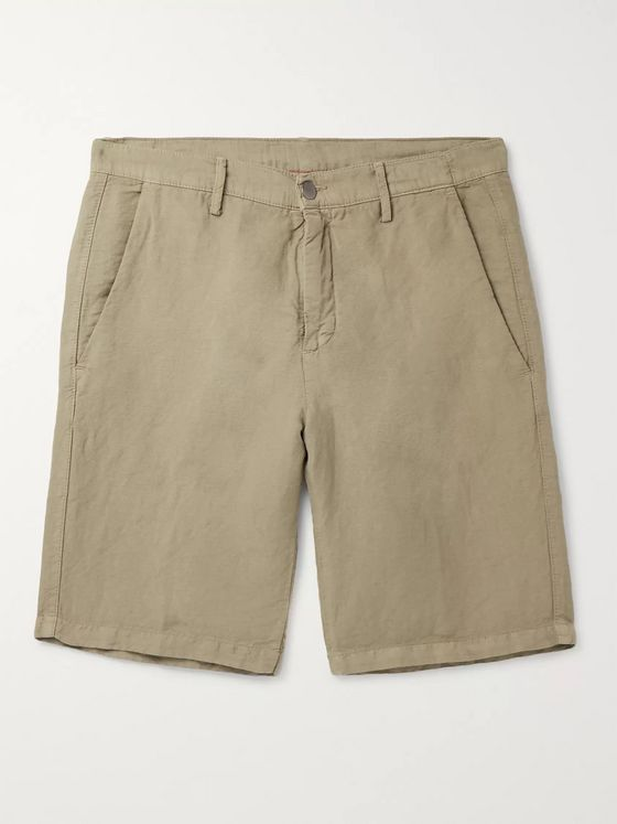 Massimo Alba Slim-Fit Linen and Cotton-Blend Shorts