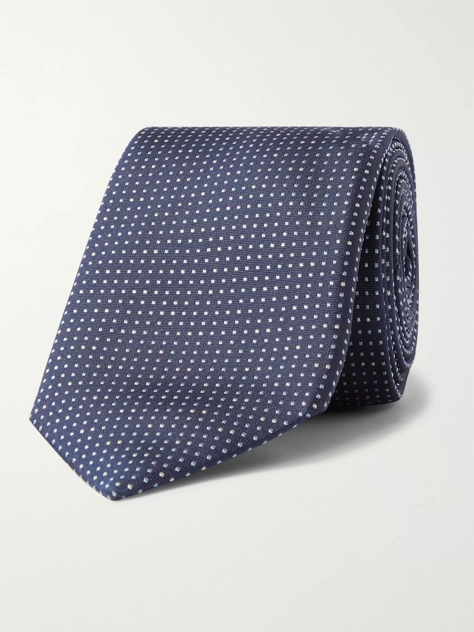 Hugo Boss 7.5cm Pin-Dot Silk Tie
