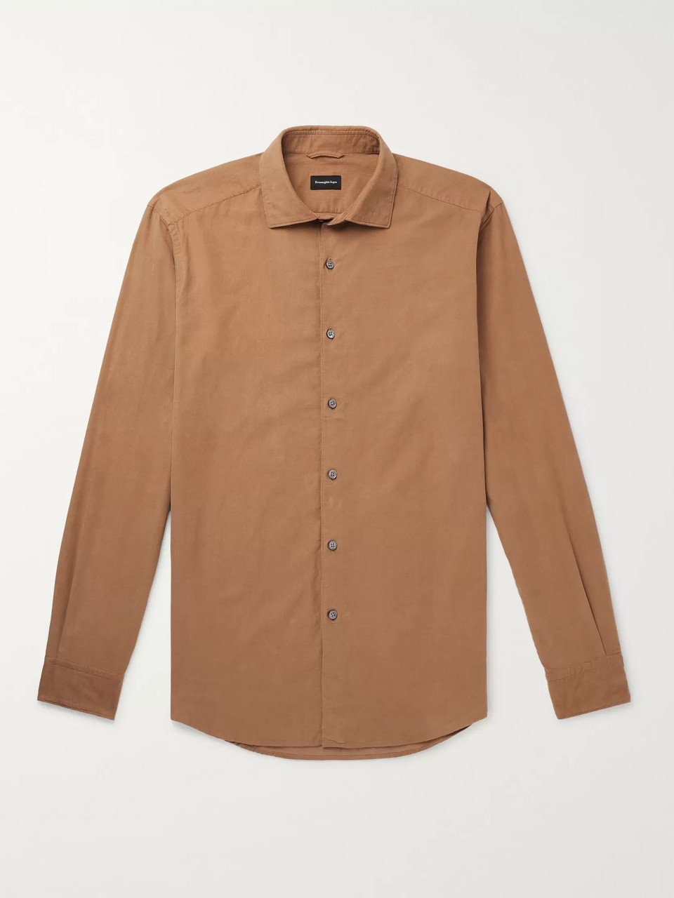 Ermenegildo Zegna Slim-Fit Cotton-Corduroy Shirt