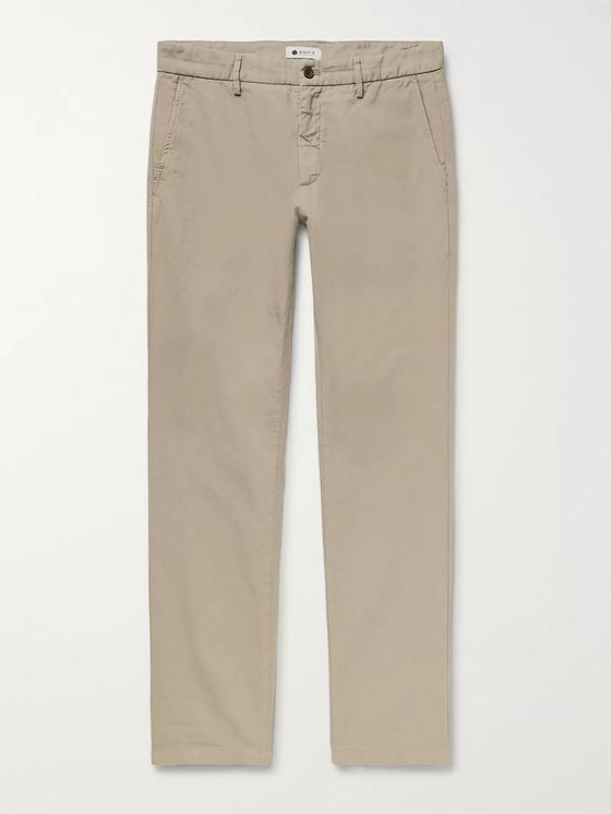 Karl Slim Fit Cotton and Linen Blend Trousers