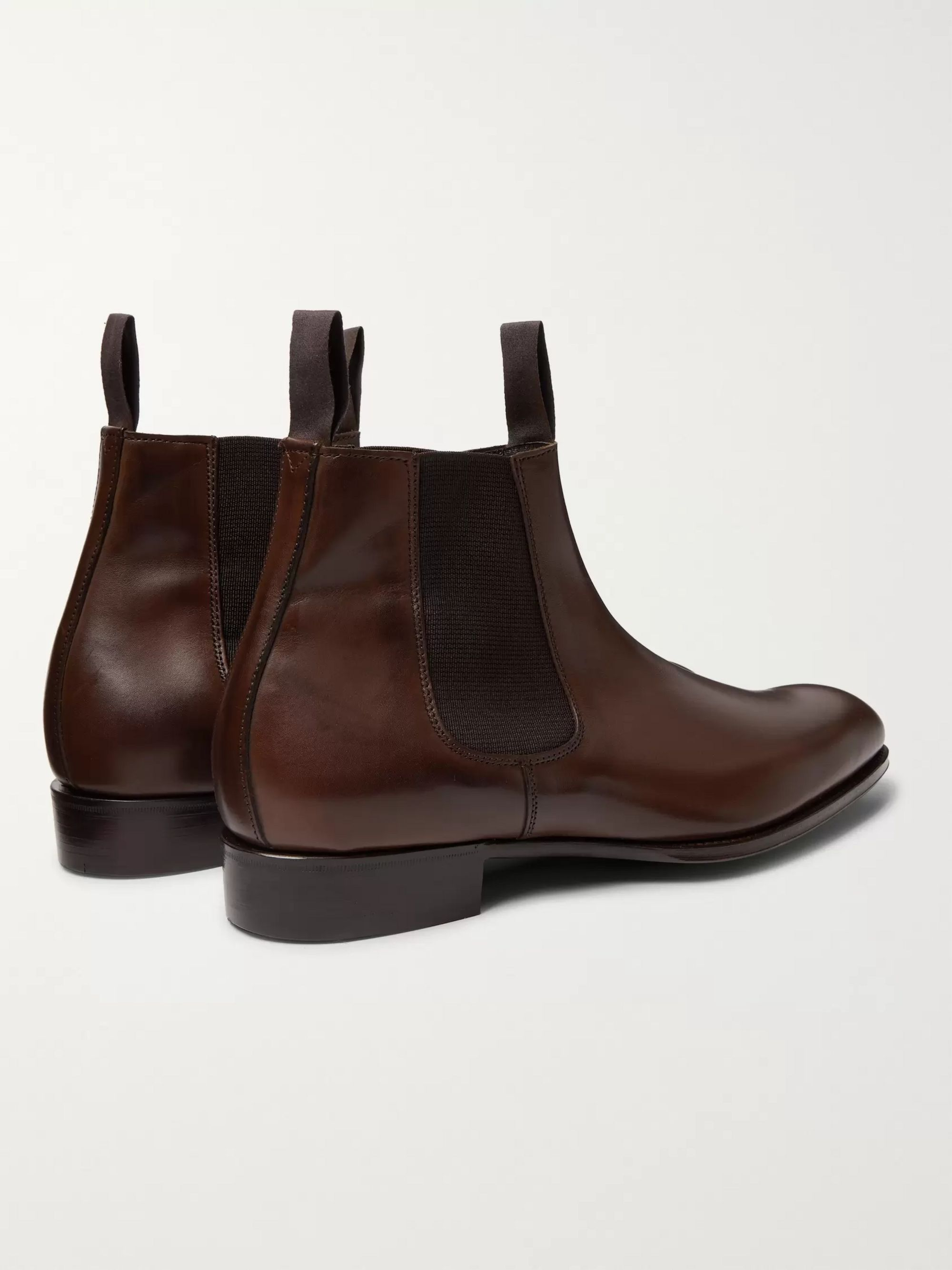 Kingsman + George Cleverley Leather Chelsea Boots