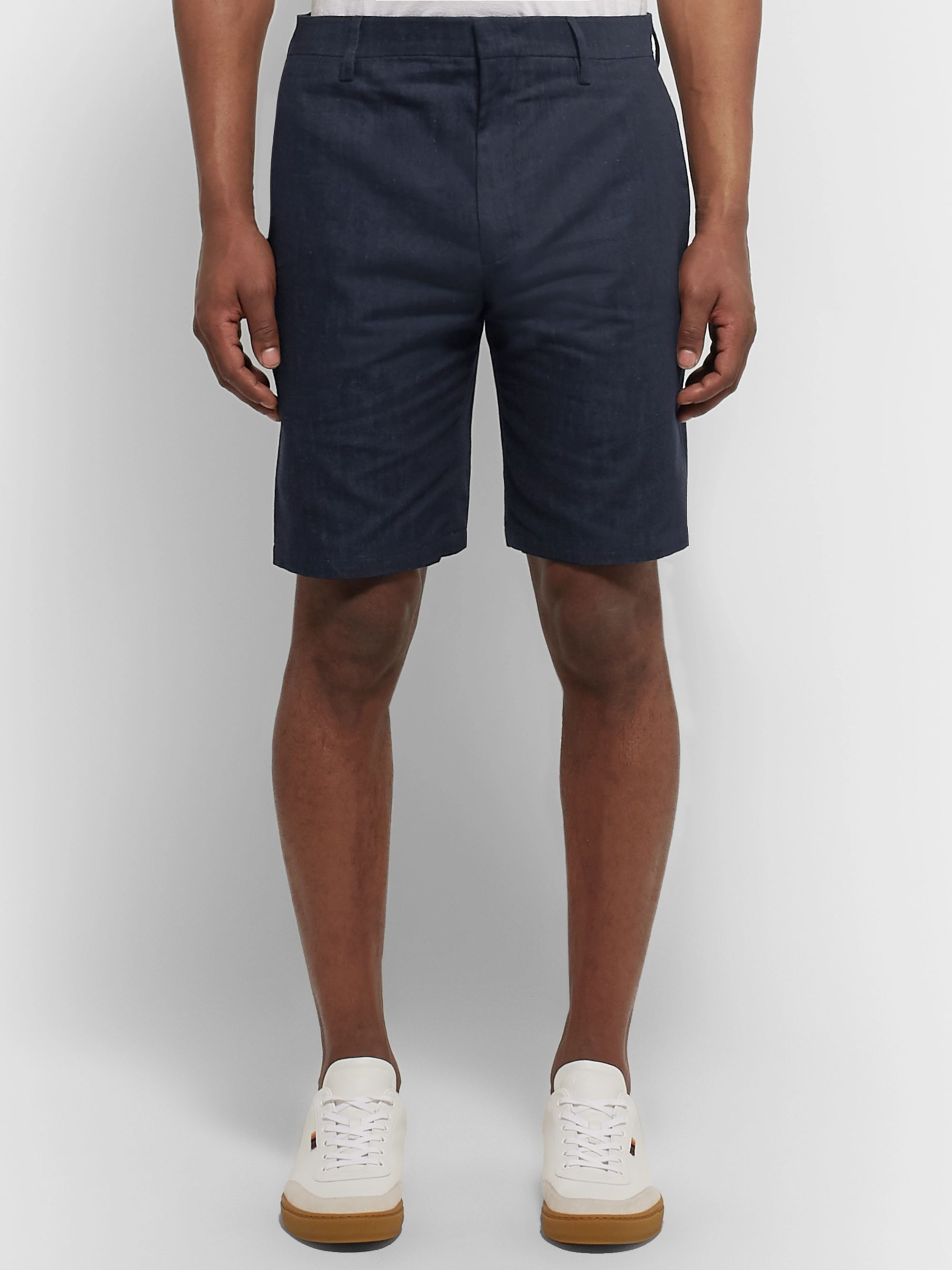 Paul Smith Nep Cotton, Linen and Silk-Blend Denim Shorts