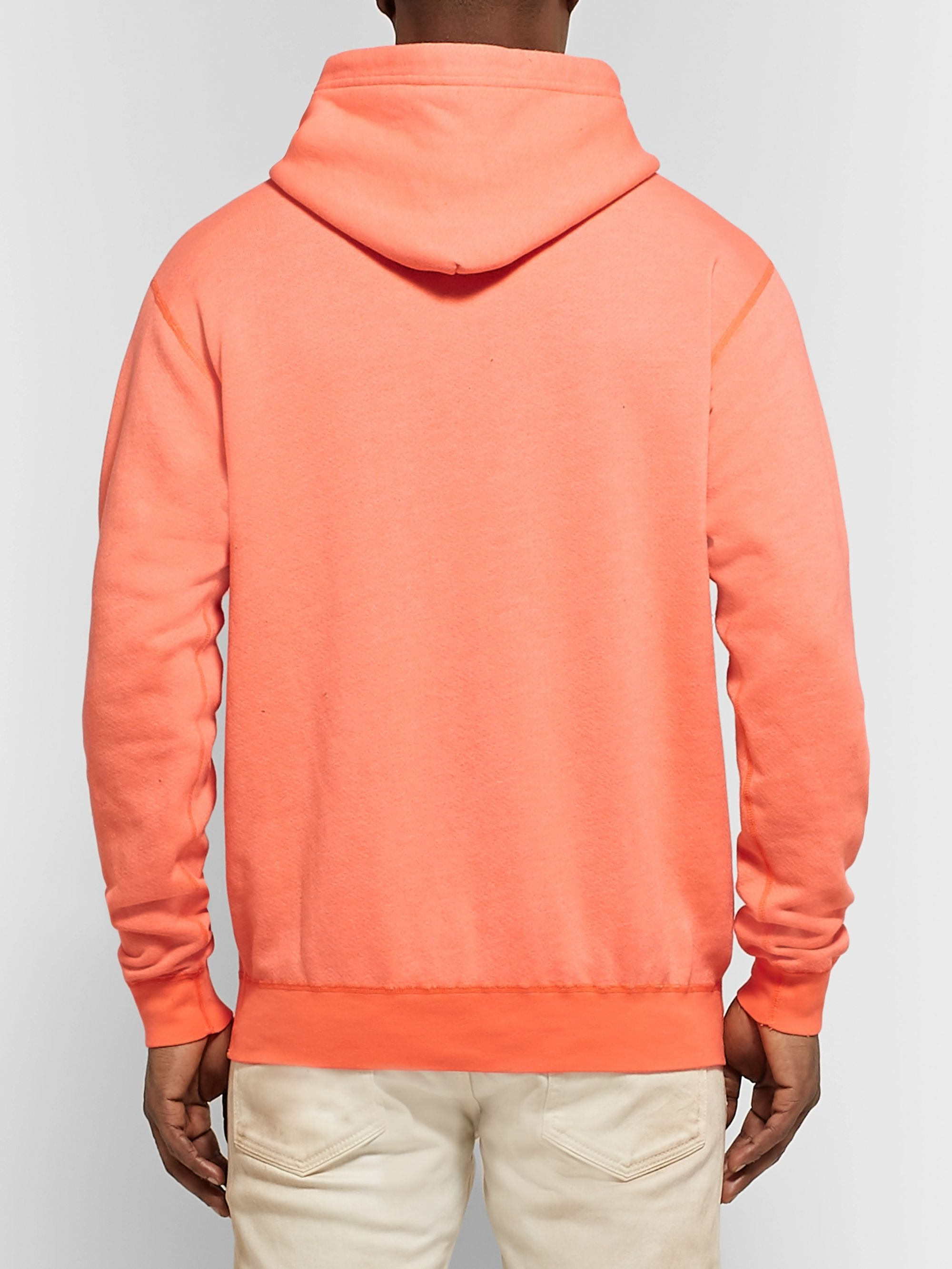 John Elliott Loopback Cotton-Blend Jersey Hoodie