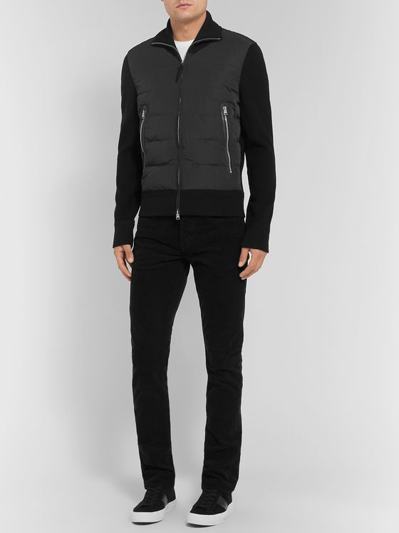 TOM FORD Slim-Fit Merino Wool and Quilted Shell Down Cardigan